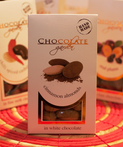 """""""Migdale în ciocolată albă cu scorțișoară"""" - Sachets"""