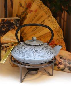 Ceainic fontă emailată cu încălzitor