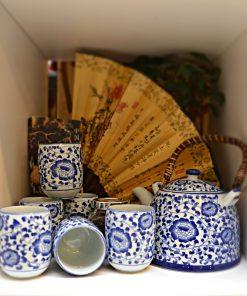 Set ceainic cu 6 cupe chinezesc